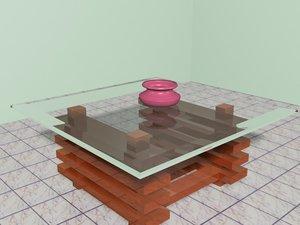 free teapot table 3d model
