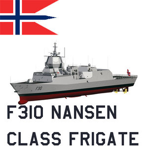 nansen class frigates royal 3d model