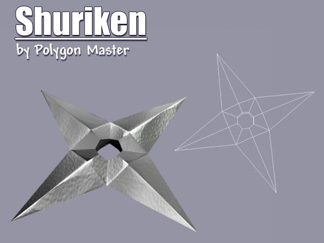free shuriken games 3d model