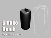3d model smoke grenade