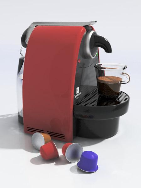 nespresso essenza 3d model