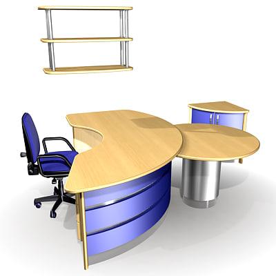 3ds max reception desks office