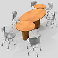 conference table and ergo chairs