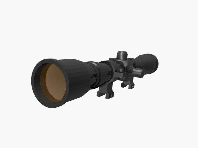 free sight lunette 3d model