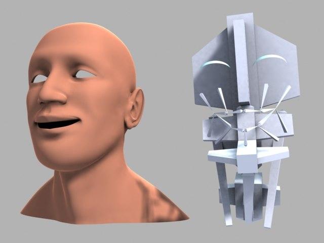 free rig bones skin 3d model