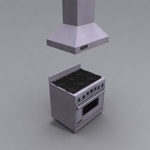 3d model viking range