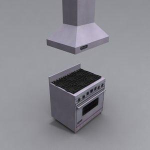 3d viking stove
