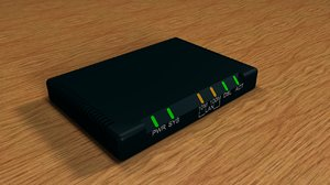 3d modem dsl router model