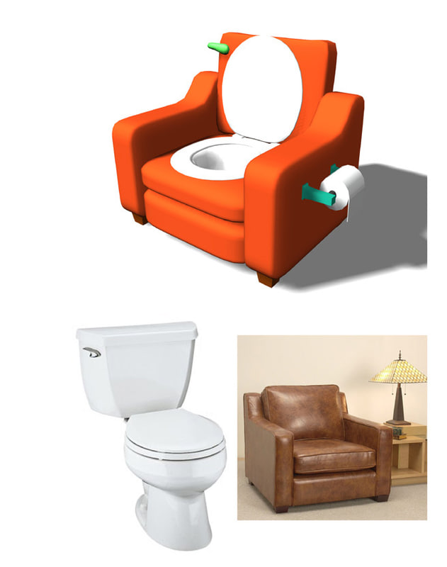 free toilet chair 3d model