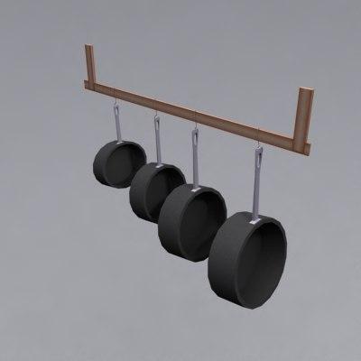 3ds hanging pot rack