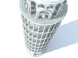 3ds max leaning tower pisa