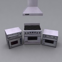 viking range oven 3d model