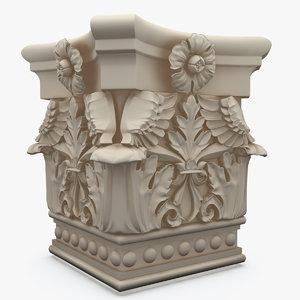 3d column capitel colum