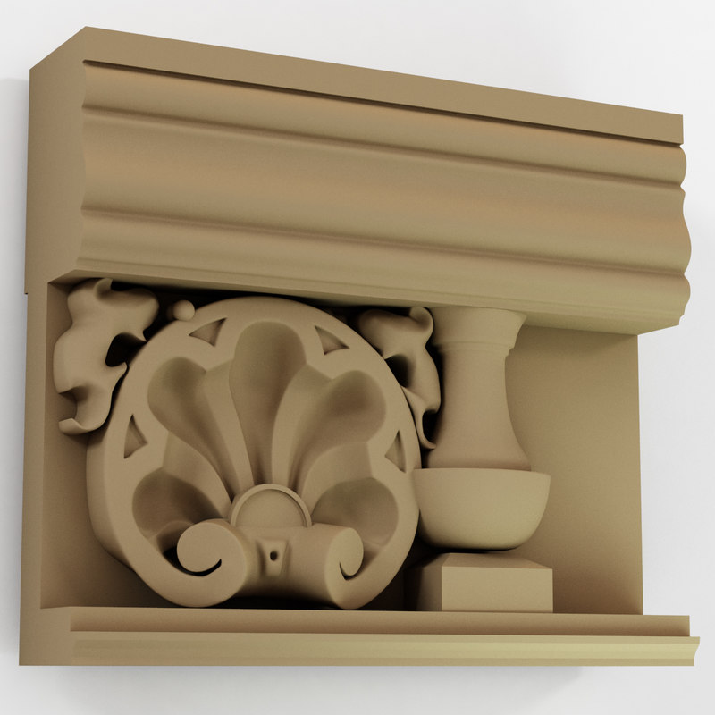 architecture moulding 3d model