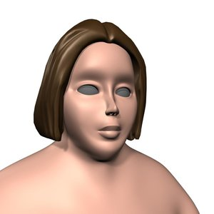 overweight female 3d max