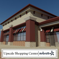 upscale shopping center 3d model