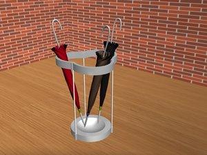 3d umbrella stands ivy model