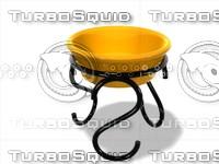 free metal basket 3d model