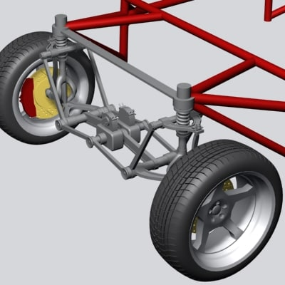 max chassis wheel suspension