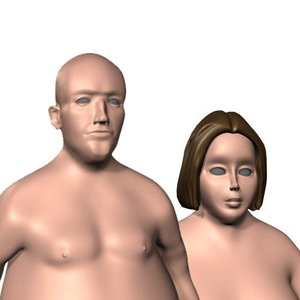 3d model realistic overweight
