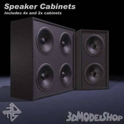 speaker cabinets 3d model