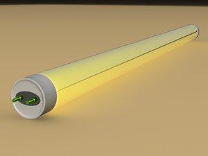 3d model neon lamp