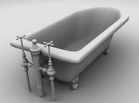 3ds max victorian clawfoot bathtub hires