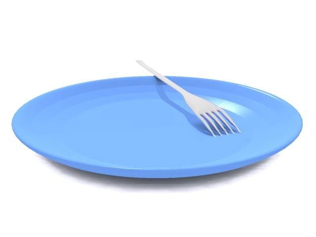 3d model plate fork