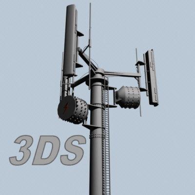 3d 3ds communications tower