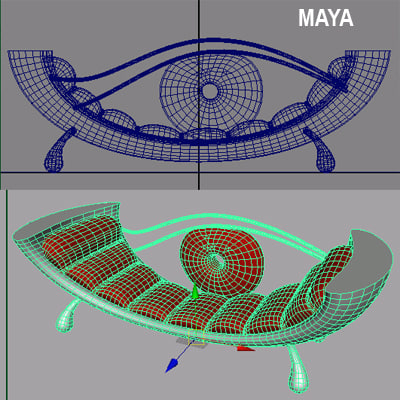 3d model eye couch couch02max7