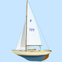 3d model of Folkboat