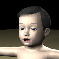 3ds max baby body character