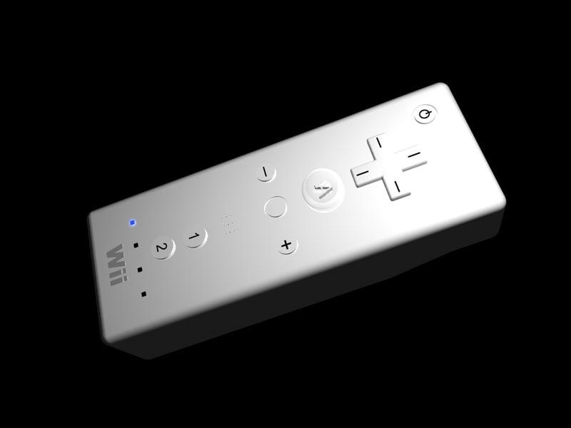 free nintendo controller wii 3d model