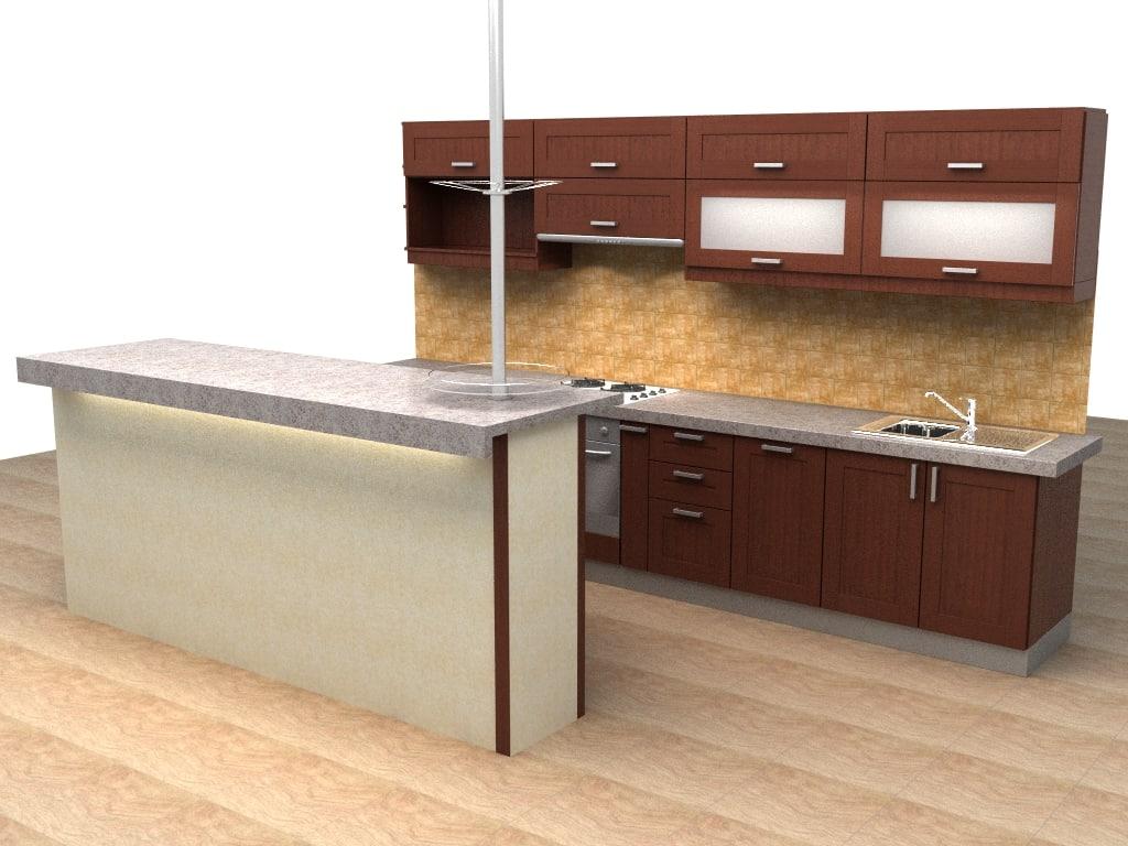 kitchen allmilmo 3d model