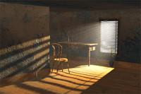 3d chair scene room model