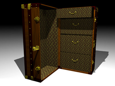 cabin trunk 3d 3ds