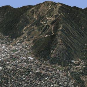 aspen colorado slopes 3d model