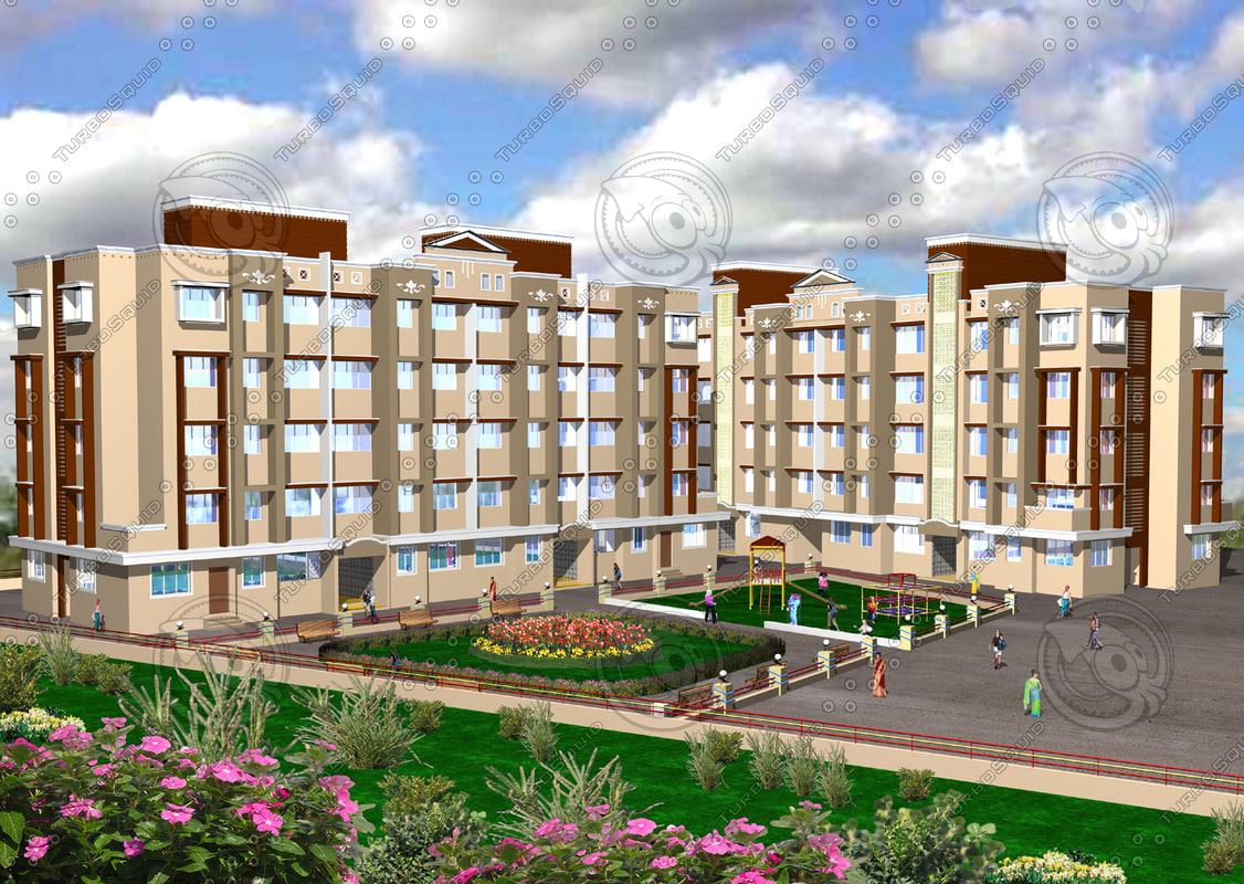 3d buildings construction model