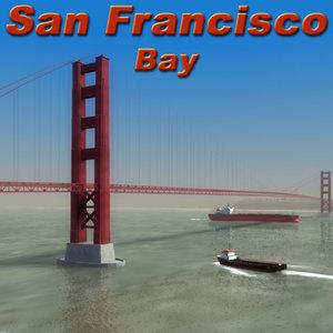 3d model san francisco bay environment
