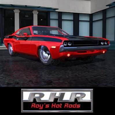 hot rod challenger 3d obj
