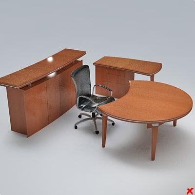 desk executive 3d model