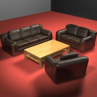 3d couch set