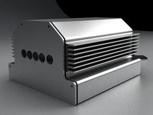 extrude aluminum enclosure type-a 3d model