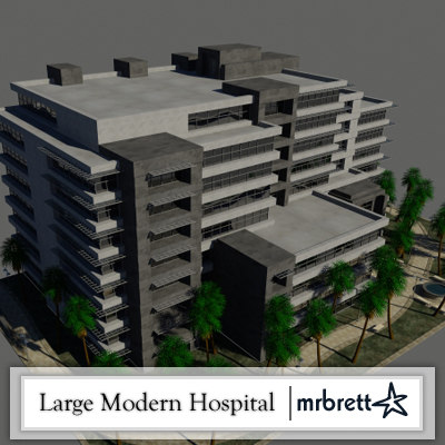 3ds large hospital office building