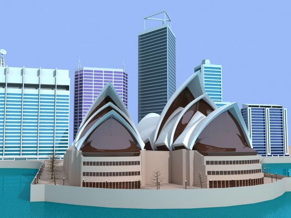 sydney opera buildings 3ds