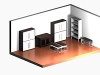 3d living room materials