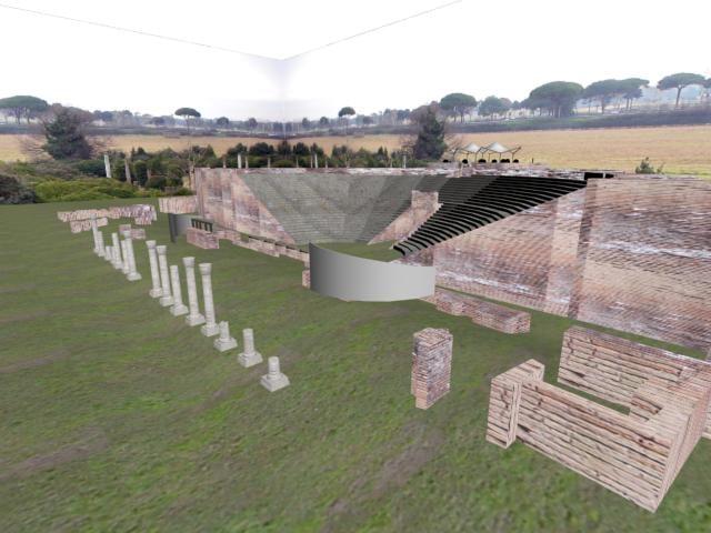 roman theatre 3d model