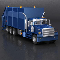 truck garbage 3d model
