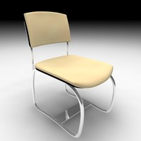 3d visitor chair sit model