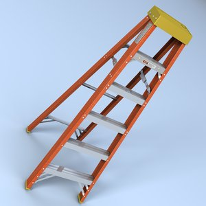 foot step ladder 3d model